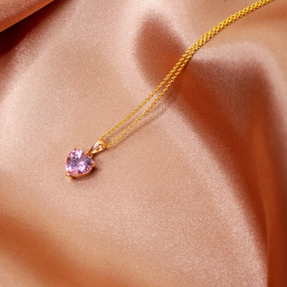Prissy Pink Gold Necklace