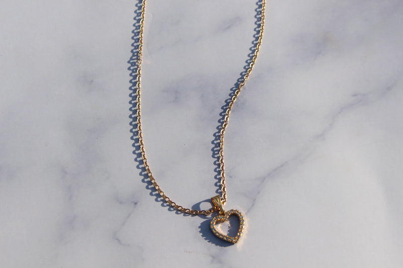Sweetheart Gold Necklace