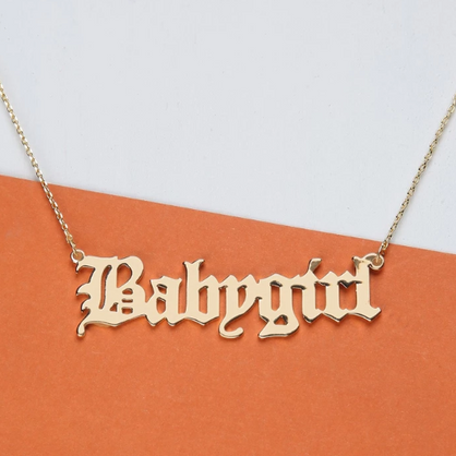 Babygirl Gold Necklace