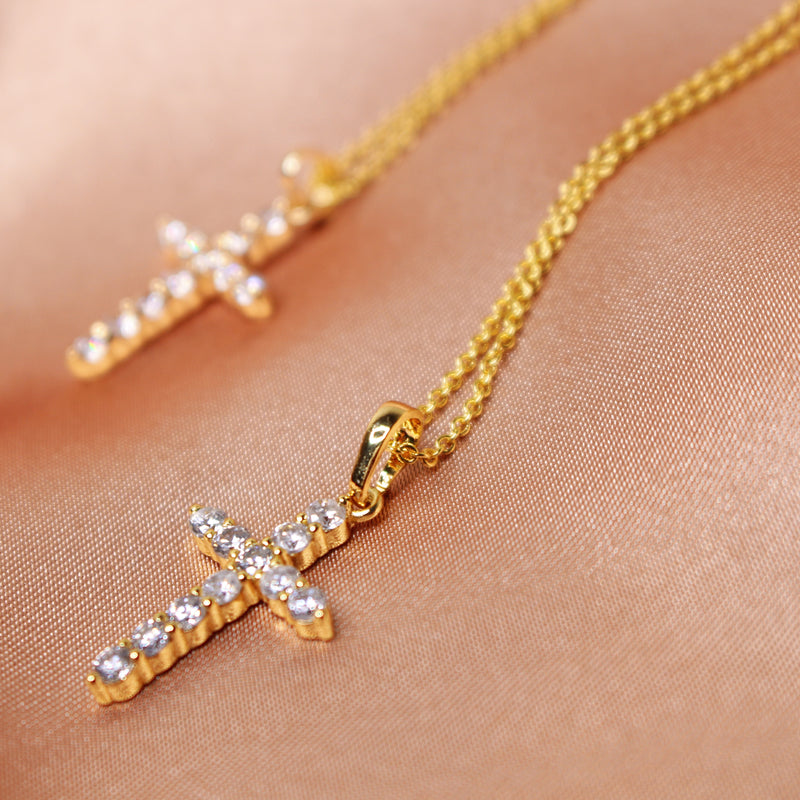 Classic Cross Gold Necklace