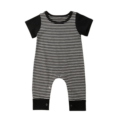 Striped Bottom Snaps Romper