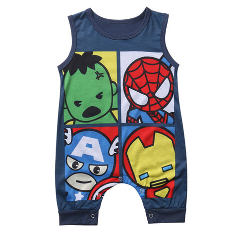 Superhero Sleeveless Romper