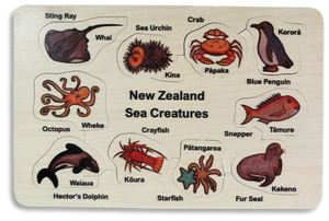 NZ Sea Creatures Puzzle