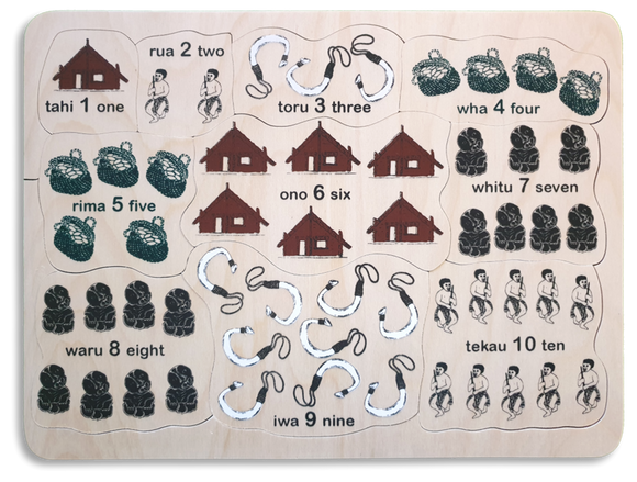 Counting to Ten Maori/English Puzzle