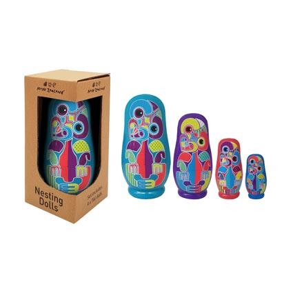 Nesting Doll NZ Tiki 4pcs
