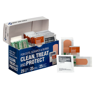 Clean Treat And Protect Wound Care Kit
