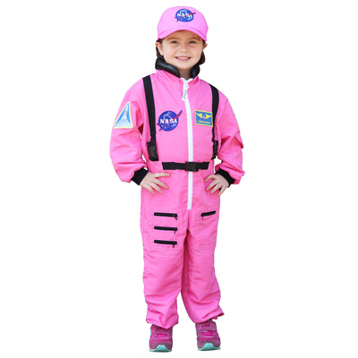 Nasa Astronaut Pink Jumpsuit Sz 4-6 Get Real Gear Dress Up For Kids