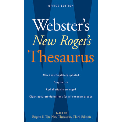 (3 Ea) Websters New Rogets Thesaurus Office Edition