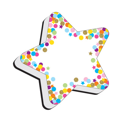 Magnetic Erasers Star Confetti Whiteboard