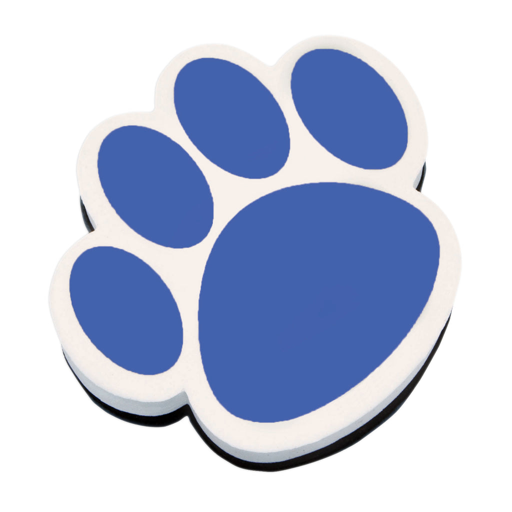 Magnetic Whiteboard Eraser Blue Paw