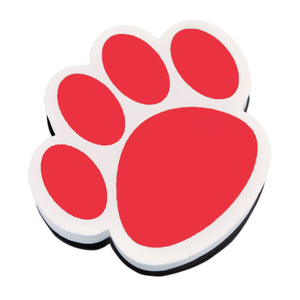 Magnetic Whiteboard Eraser Red Paw