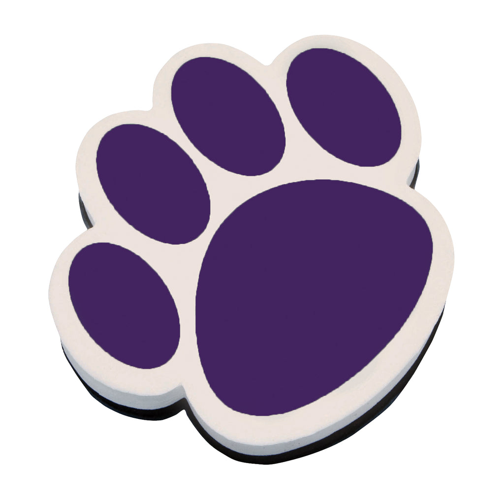 (6 Ea) Magnetic Whiteboard Eraser Purple Paw - Student Spotlight