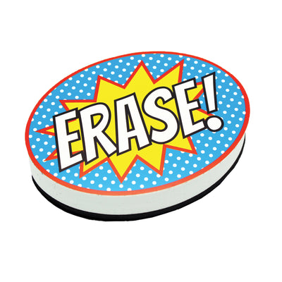 (6 Ea) Superhero Erase Magnetic Whiteboard Eraser