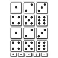 MATH DIE CUT MAGNETS DICE