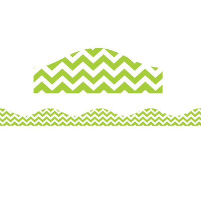 (6 Pk) Magnetic Border Lime Green Chevron