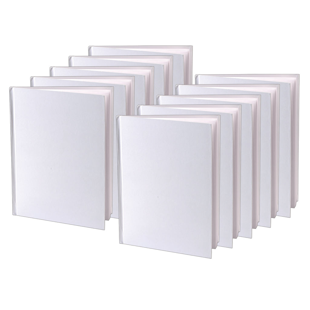 (10 Ea) White Hardcover Blank Book 8-1-8x6-3-8