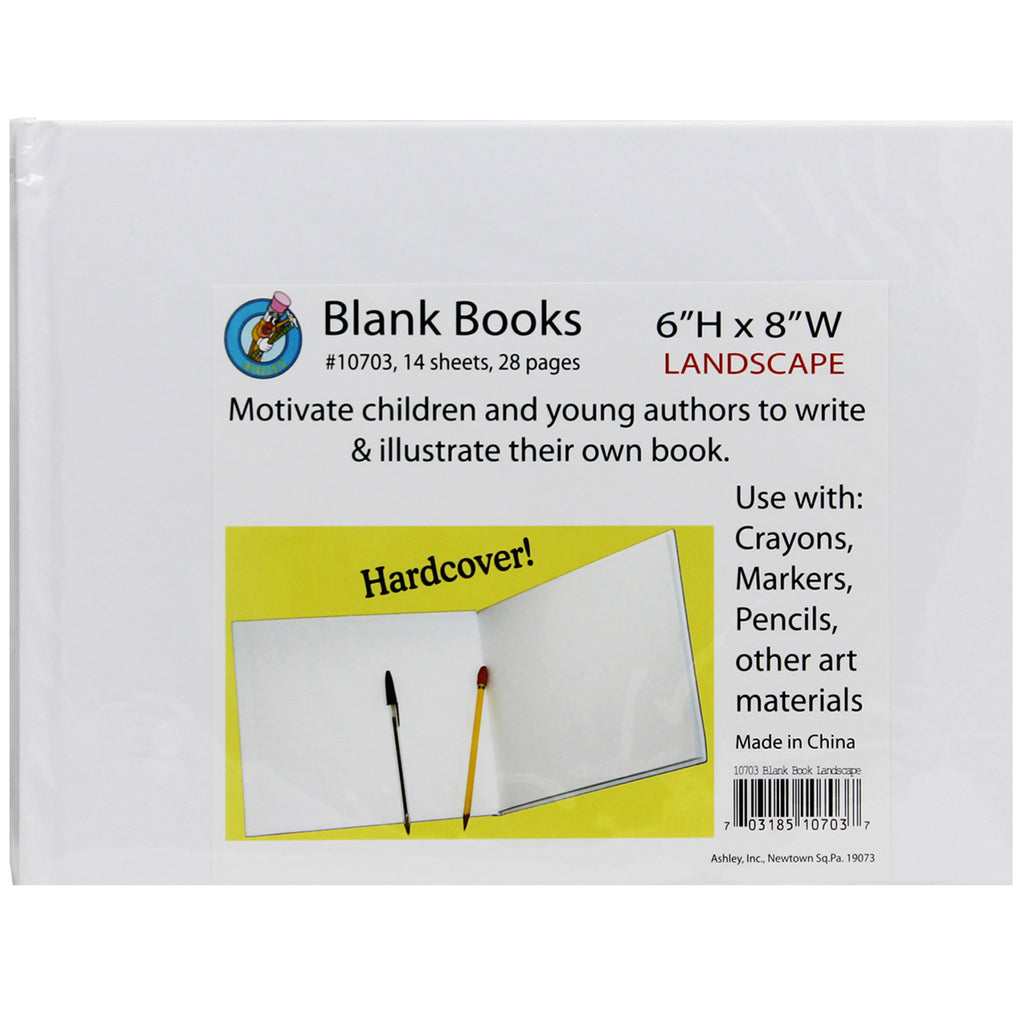 WHITE HARDCOVER BLANK BOOK