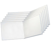 (6 Ea) White Hardcover Blank Book 8.5 X 11