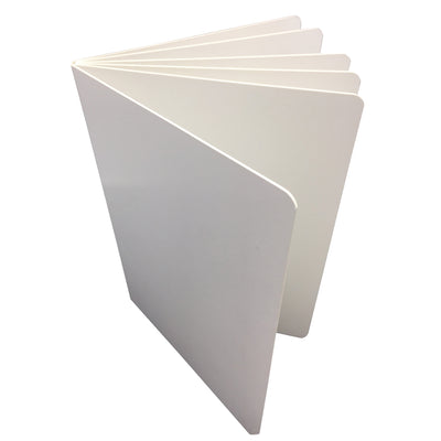 (6 Ea) White Hardcover Blank Book 6x8