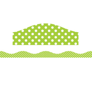 Big Magnetic Border Lime & White Dots