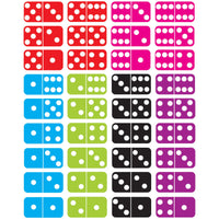 Math Die Cut Magnets Dominoes