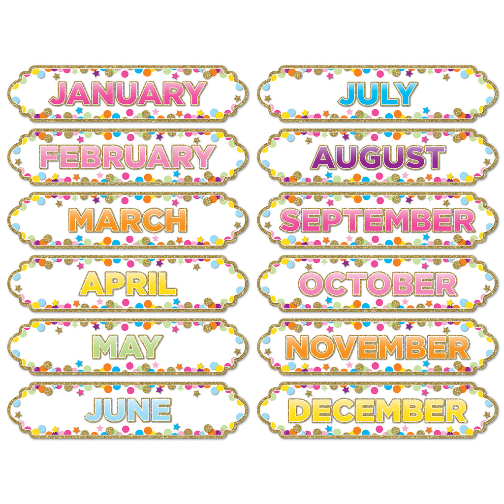 Magnetic Confetti Months Of The Yr