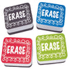 (3 Pk) Chalk Loop Mini Whiteboard Erasers Non Magnetic