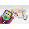 COLOR OWLS MINI WHITEBOARD ERASERS
