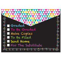 DECORATED POLY FOLDER CHALK TASKS