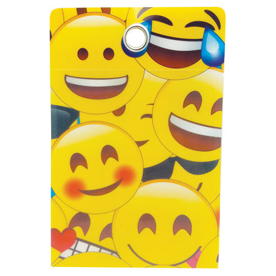 Pockets Emojis Grommett Hole 30 Pc Poly Clear Front 4x6
