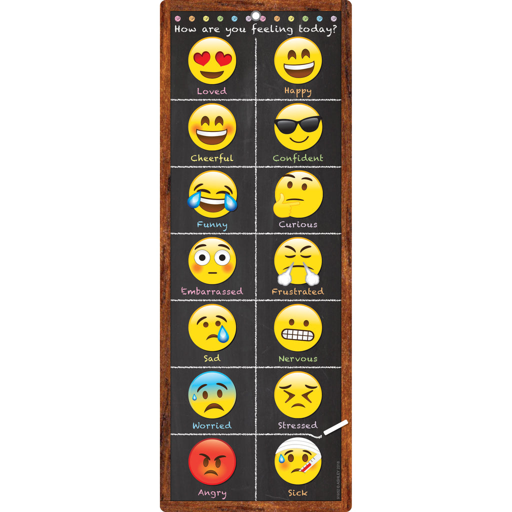 Smart Poly Clip Chart Emoji Feeling Dry-erase Surface