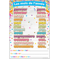 Chart French Months Of The Year Dry-erase Surface