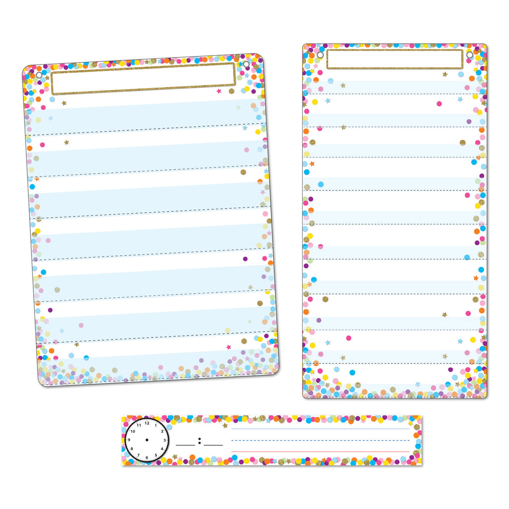 3PC CONFETTI POCKET CHART SET