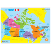 Canadian Map Learning Mat 2 Sided Write On Wipe Off