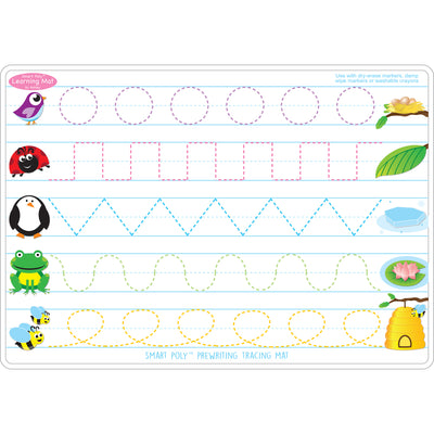 Prewrite & Shapes Learn Mat 2 Sided Write On Wipe Off