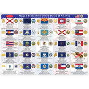 2 Sided Learning Mat State Flags Smart Poly