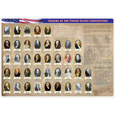 2 Sided Learning Mat Constitution Bill Of Rights Smart Poly