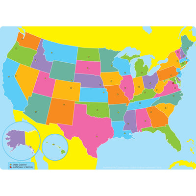 Us Map Space Savers Postermat Pals Smart Poly Single Sided