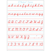 Dnealian Cursive Hndwrtng Postermat Pals Smart Poly Single Sided