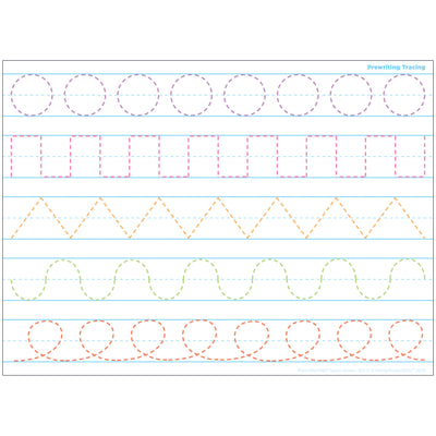 Prewriting Tracing Postermat Pals Smart Poly Single Sided