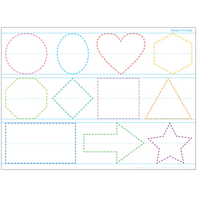 Shapes Tracing Space Savers Postrmt Pals Smart Poly Single Sided