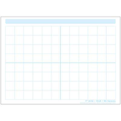 1in Grid Blocks Postermat Pals Smart Poly Single Sided