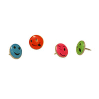 Fancy Push Pins Smiley Face