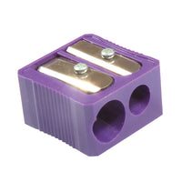 DUAL HOLE PLASTIC PENCIL SHARPENER