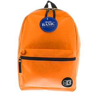 16in Orange Basic Collection Backpk - Student Spotlight