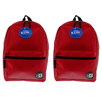 (2 Ea) 16in Burgundy Basic Back Pack - Student Spotlight