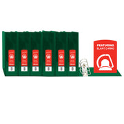 (6 Ea) D Ring Binder W- Pockts 2in Green