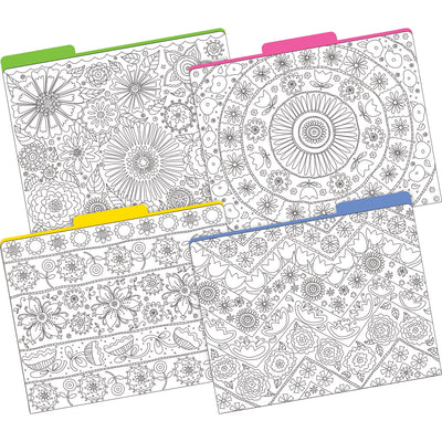 (2 Pk) Letter Size File Folders Clr Me In My Garden Multi-design Set