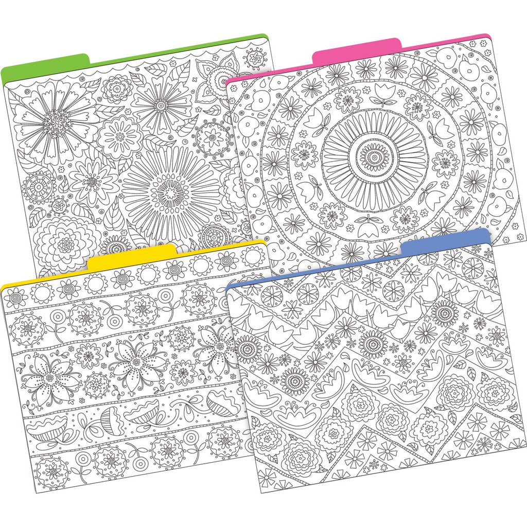 Letter Size File Folders Color Me In My Garden Multidesign Set