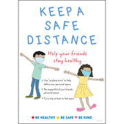 Keep A Safe Distance Poster